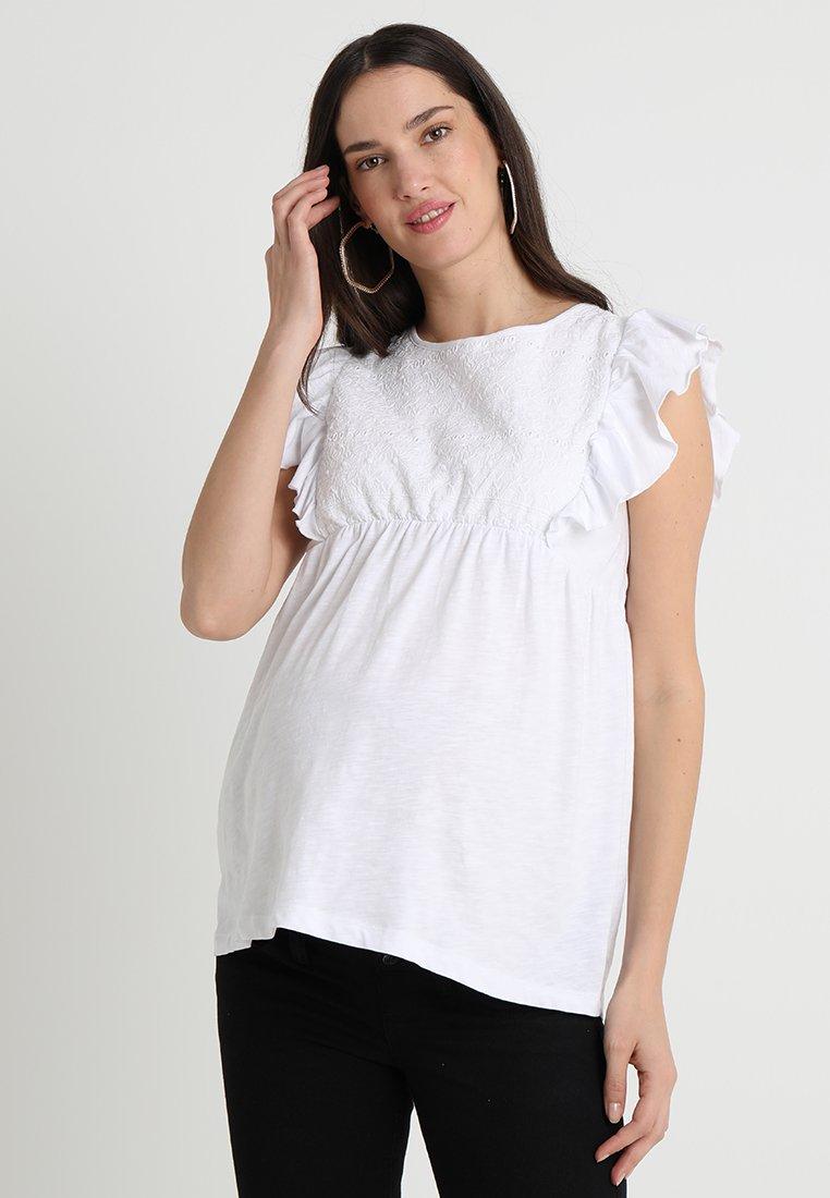 JoJo Maman Bébé - BRODERIE ANGLAISE - Print T-shirt - white