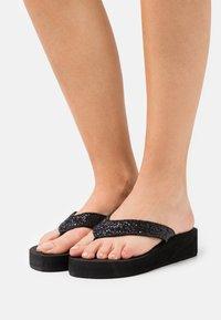 Esprit - ELLIE PLATHONGS - T-bar sandals - black - 0