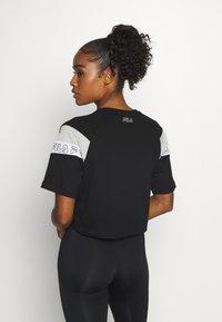 Fila - LOLLE - Print T-shirt - black/light grey melange/bright white - 2