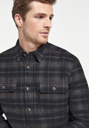 CHECK BORG TWIN POCKET SHACKET - Shirt - grey