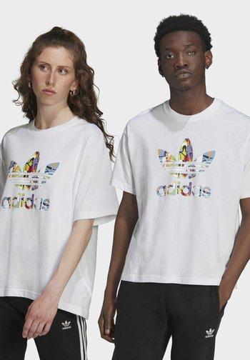 LOVE UNITES TREFOIL - T-shirt med print - white