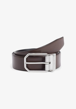 REVERSIBLE - Belt - black/dark brown