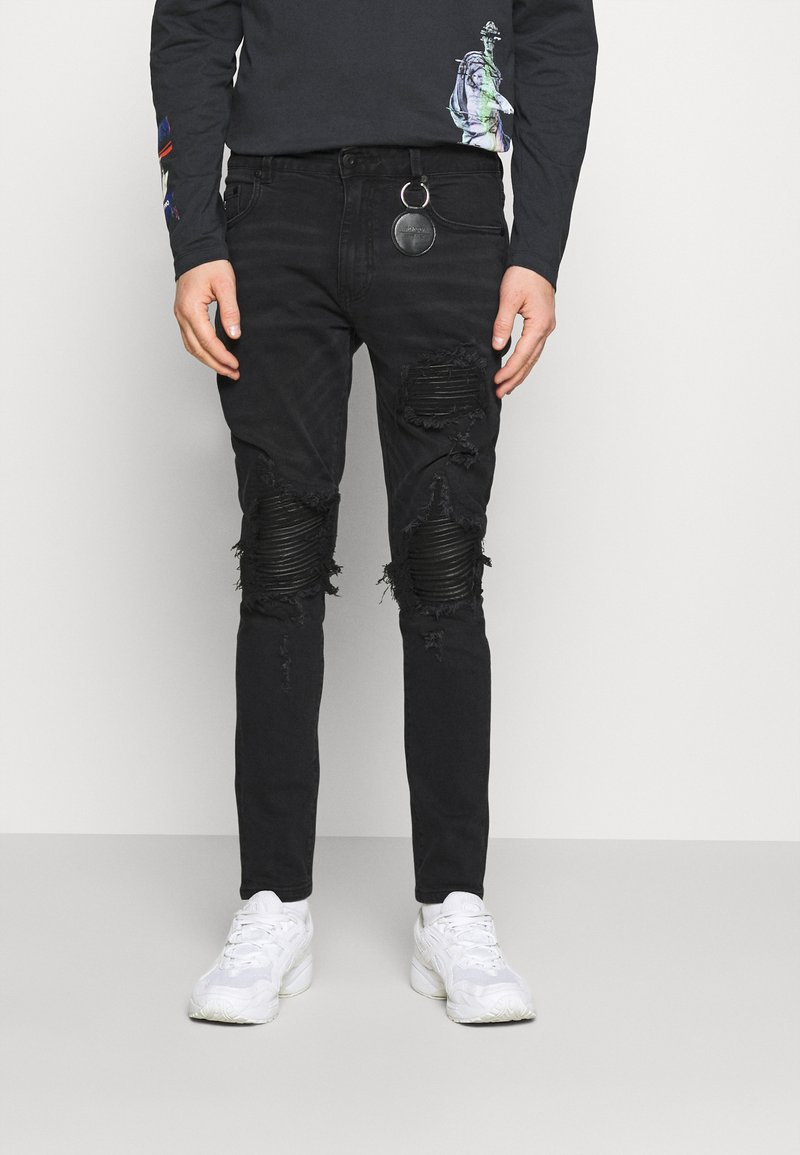 AMICCI - MILAZZO  - Jeans Tapered Fit - black
