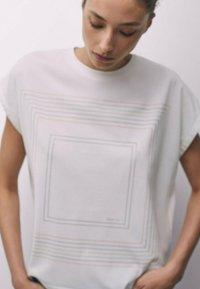 Massimo Dutti - Print T-shirt - orange - 1