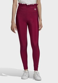 adidas Originals - BELLISTA SPORTS INSPIRED SLIM TIGHTS - Leggings - Trousers - power berry - 0