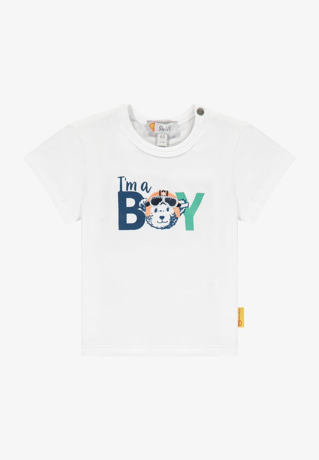 HIGH FIVE MIT SCHRIFTZUG - T-shirt print - bright white