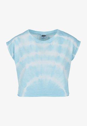 TIE DYE - Print T-shirt - aquablue