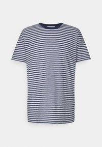 Selected Homme - SLHAUGUSTUS  - Print T-shirt - dark blue melange/light grey melange - 0