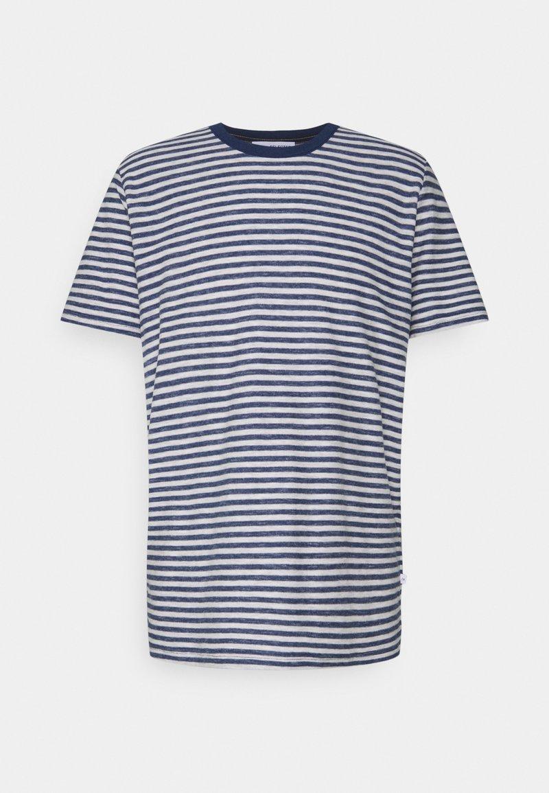 Selected Homme - SLHAUGUSTUS  - Print T-shirt - dark blue melange/light grey melange