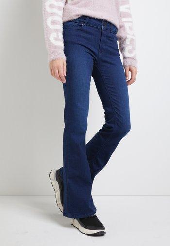 NEWLUZ - Flared Jeans - dark blue