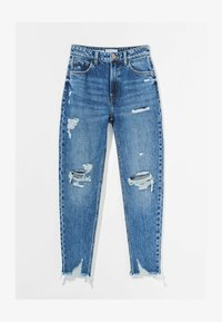 Bershka - MOM FIT JEANS - Relaxed fit jeans - dark blue - 4
