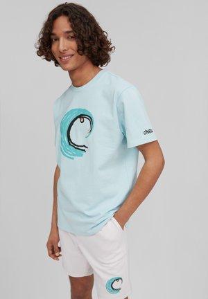 PACIFIC OCEAN  - Print T-shirt - iced aqua