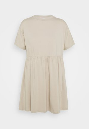 NMKERRY SHORT DRESS - Jersey dress - beige