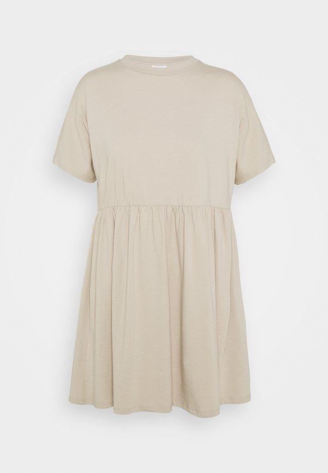 NMKERRY SHORT DRESS - Jersey dress - beige