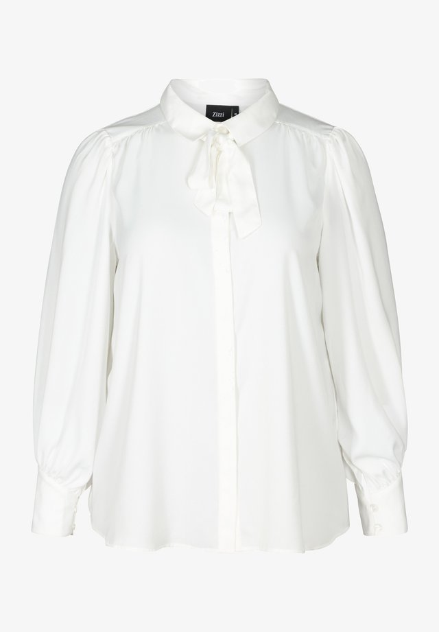 MIT BINDEDETAIL - Overhemdblouse - off-white