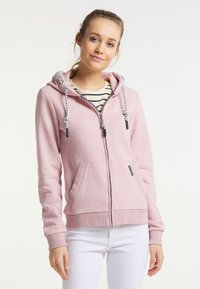 Schmuddelwedda - Zip-up sweatshirt - rosa melange - 0