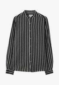PULL&BEAR - Košile - mottled black - 4