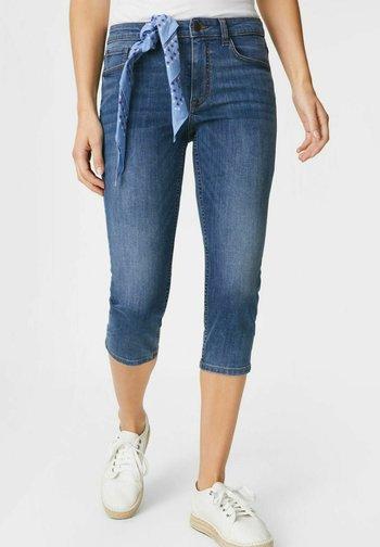 SET - Denim shorts - denim-blue