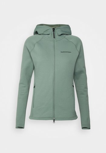 CHILL ZIP HOOD - Giacca in pile - olive