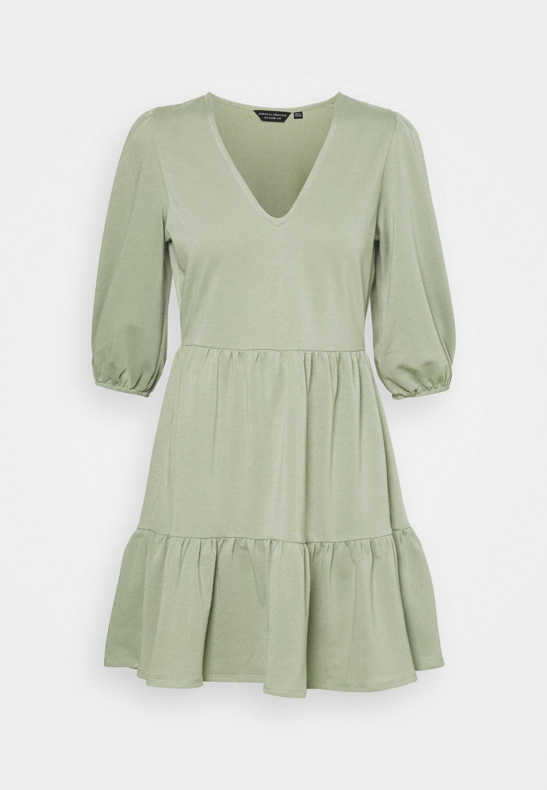 Women SMOCK MINI DRESS - Jersey dress