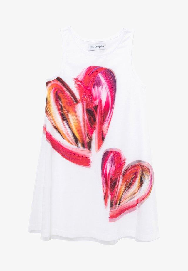 LETICIA - Gebreide jurk - white