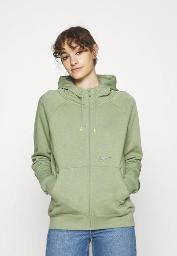 HOODIE  - Zip-up sweatshirt - oil green