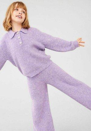 Trousers - purple heather