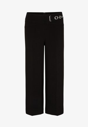 MIT ZIER-RIEGEL - Trousers - black
