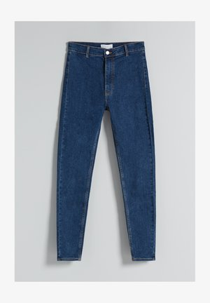 SUPER HIGH WAIST - Džíny Slim Fit - dark blue
