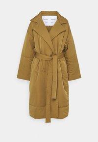 Proenza Schouler White Label - MATTE PUFFER LONG COAT - Zimní kabát - cider - 0