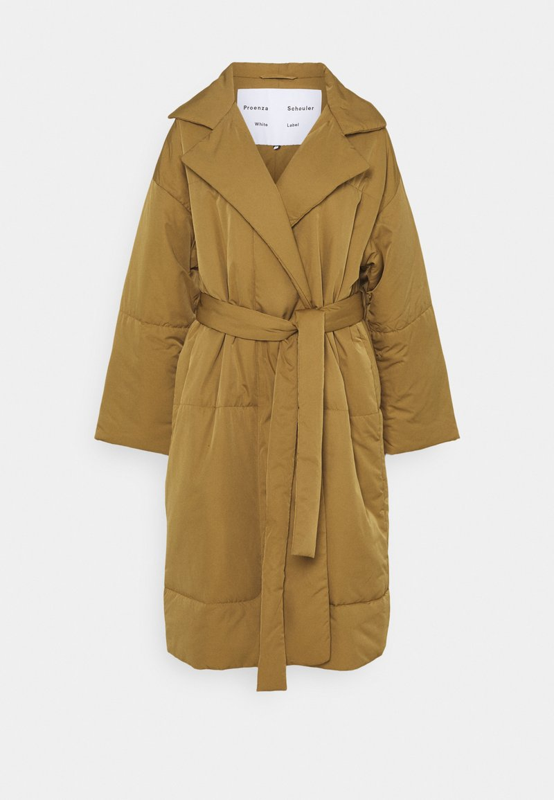 Proenza Schouler White Label - MATTE PUFFER LONG COAT - Zimní kabát - cider
