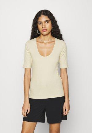 ALEXO - T-shirt basic - brown rice