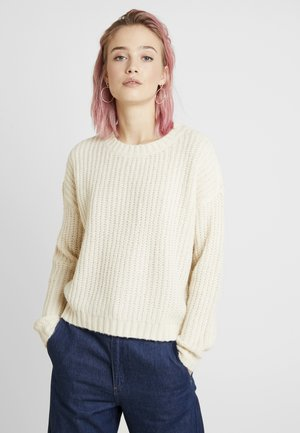VMRUSH O-NECK - Jumper - birch/white melange