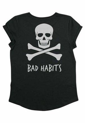 BAD HABITS - T-shirt print - black