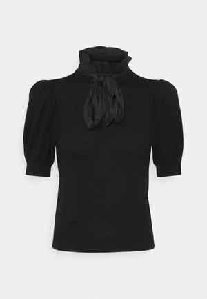 CHASE PUFF RUFFLE - T-shirt med print - black
