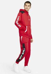 Nike Sportswear - HOODIE - Zip-up sweatshirt - university red black white - 1