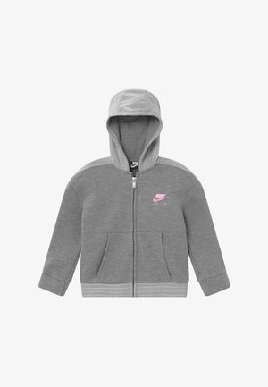 Zip-up hoodie - carbon heather