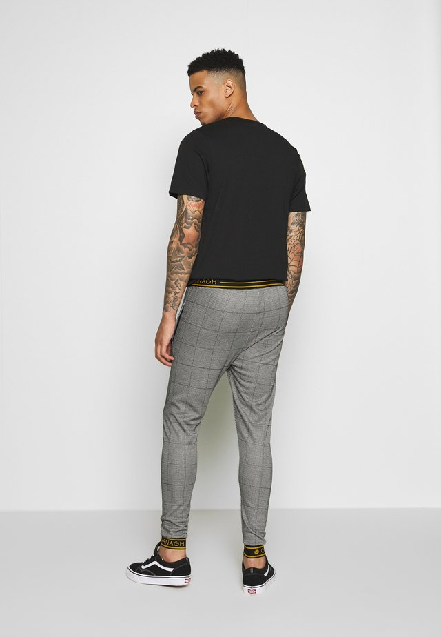TARTAN TROUSERS - Tracksuit bottoms - grey