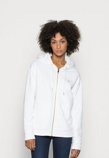 REGULAR ZIP THROUGH HOODIE - Zip-up sweatshirt - white