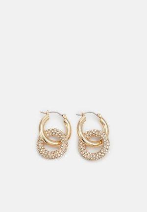 PCJYSTAL HOOP EARRINGS 2-IN-1 - Earrings - gold-colored/clear