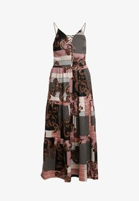 Noisy May Tall - NMSAHRA PAISLEY LONG DRESS - Maxikjoler - black/pink - 4