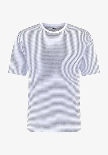 Print T-shirt - white-navy