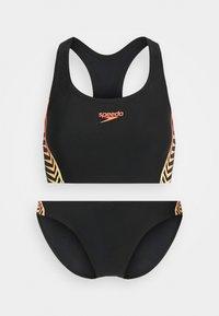 Speedo - SET - Bikini - black/lazer lemon/fluotangerin - 0