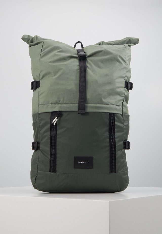 BERNT - Mochila - dusty green/night green