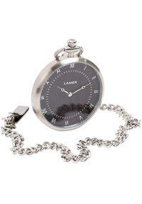 LAIMER - LAIMER QUARZ HOLZUHR - ANALOGE TASCHENUHR SANDELHOLZ - Watch - silver - 2