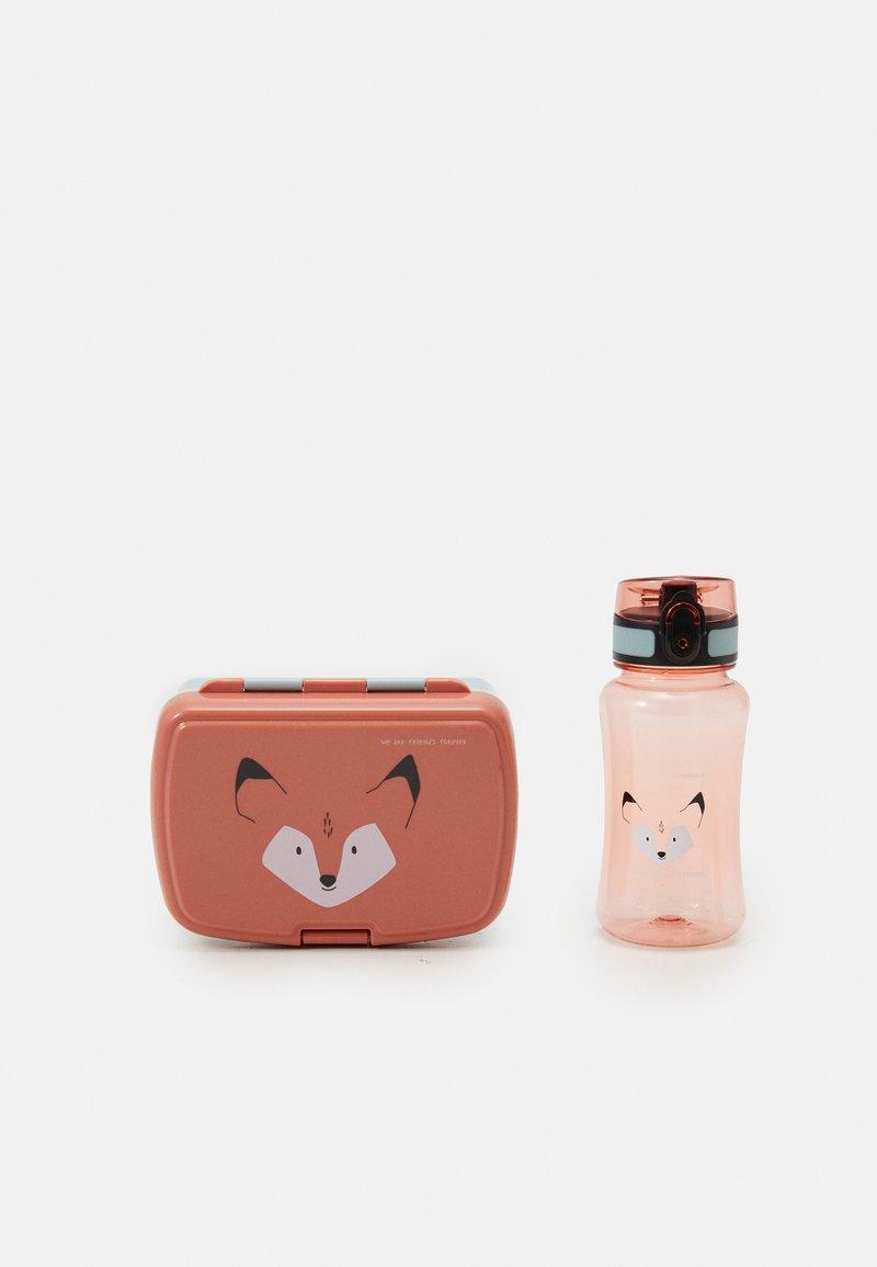 Lässig - LUNCH ABOUT FRIENDS FOX SET UNISEX - Lunch box - red