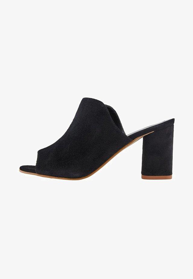 PSANILA - Heeled mules - black