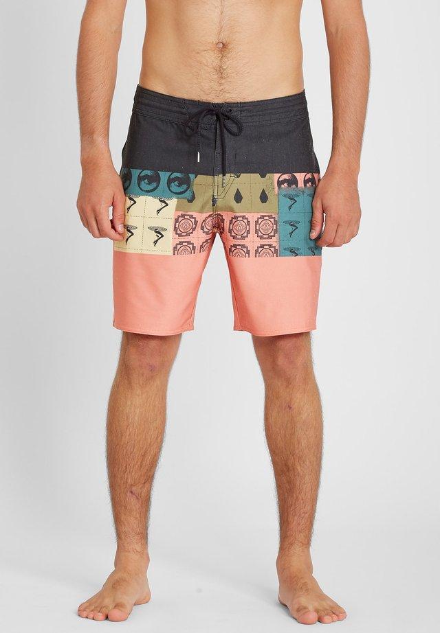 TROPIC BLOTTER PANEL 18 - Shorts da mare - black