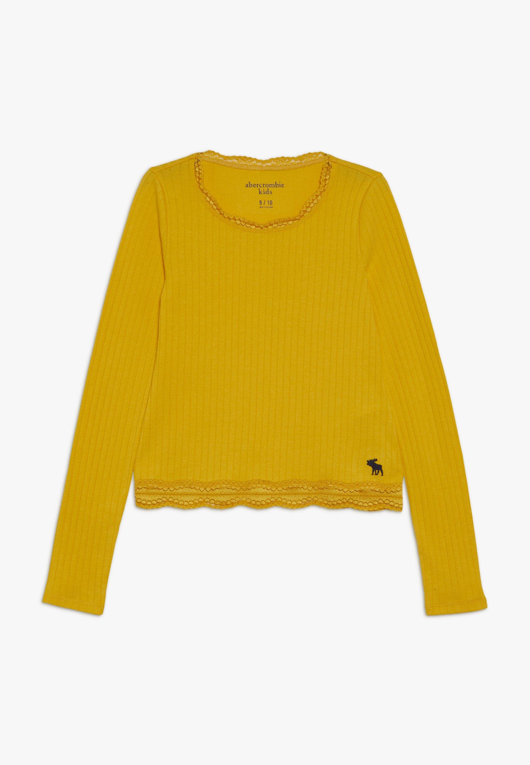 Große Förderung Abercrombie & Fitch SLIM SCOOP - Langarmshirt - golden rod   Damenbekleidung 2020