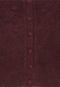 Abercrombie & Fitch - BOBBLE STITCH SHORT CARDI  - Cardigan - burgundy